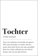 Canvas print  Tochter Definition (German) - Pulse of Art