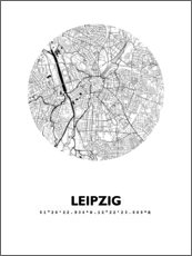 Acrylglas print  City map of Leipzig - 44spaces