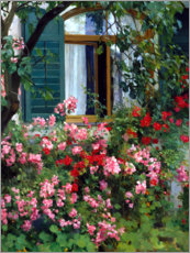 Acrylglas print  At the flower window - Franz Grässel