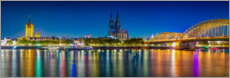 Acrylglas print  Panorama of the Cologne skyline - Martin Wasilewski