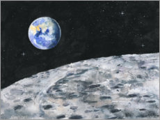 Premium poster Earth seen from the moon