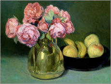 Premium poster Still life of flowers and fruits