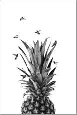 Canvas print  Pineapple birds - NiMadesign