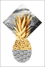 Premium poster Golden pineapple