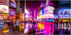 Acrylglas print  Times Square New York after the rain - Haussmann Visuals