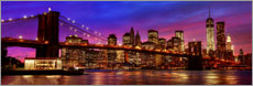 Aluminium print  Brooklyn bridge - Art Couture
