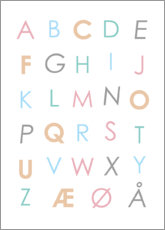 Canvas print  Scandinavian Alphabet Colourful - Typobox