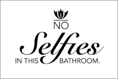 Aluminium print  No selfies in the bathroom - Typobox