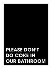 Canvas print  Please don't do coke - Typobox