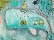 Acrylglas print  Little whale in the ocean of dreams - Micki Wilde