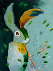 Canvas print  Abstract hare in wind - Micki Wilde