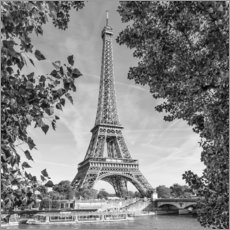 Acrylglas print  Idyllic view of the Eiffel Tower - Melanie Viola