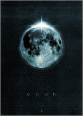 Acrylglas print  Moon, La Luna - Black Sign Artwork