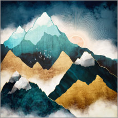 Hout print  Mountain scene at daybreak - SpaceFrog Designs