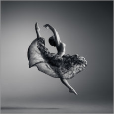 Canvas print  Ballerina jumping high - Johan Swanepoel