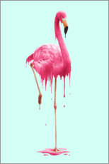 Acrylglas print  Melting flamingo - Jonas Loose