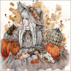 Canvas print  The Gray Witch - Enys Guerrero