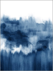 Premium poster Ink mountains in blue