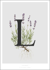 Acrylglas print  L is for Lavender - Charlotte Day