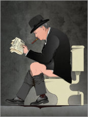 Canvas print  Churchill op het toilet - Wyatt9