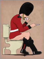 Aluminium print  Queen's Guard on the Toilet - Wyatt9