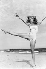 Acrylglas print  Marilyn op het strand - Celebrity Collection