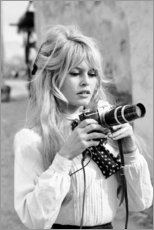 Aluminium print  Brigitte Bardot met camera - Celebrity Collection