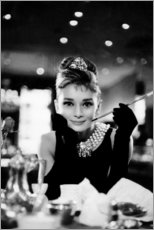 Muursticker  Audrey Hepburn in Diamanten bij het ontbijt - Celebrity Collection