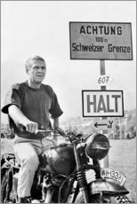 Acrylglas print  Steve McQueen in The Great Escape - Celebrity Collection