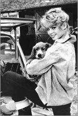 Canvas print  Brigitte Bardot met puppy - Celebrity Collection