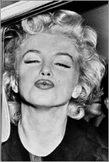Acrylglas print  De kus van Marilyn Monroe - Celebrity Collection