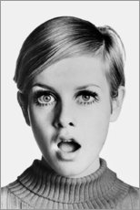 Muursticker  Twiggy is verbaasd - Celebrity Collection