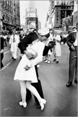 Aluminium print  VJ Day a Times Square - Celebrity Collection