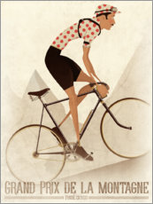 Muursticker  Vintage fietser berg classificatie - Wyatt9