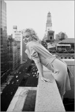 Hout print  Marilyn Monroe in New York - Celebrity Collection