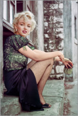Acrylglas print  Marilyn Monroe in een filmpauze - Celebrity Collection