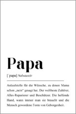 Muursticker  Papa-definitie - Pulse of Art