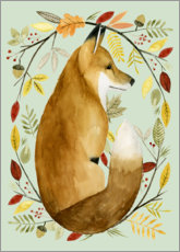 PVC print  Fox in de herfst - Grace Popp