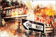 Acrylglas print  NYC Broadway One Way - Philippe HUGONNARD