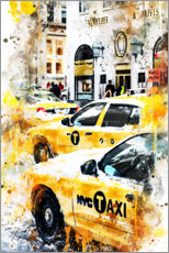 Gallery print  New York Taxis - Philippe HUGONNARD