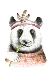 Canvas print  Panda vriend - Kidz Collection