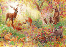 Canvas print  Betoverende bosdieren in herfst - Heather Kilgour
