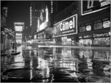 Acrylglas print  Regen op Times Square in New York