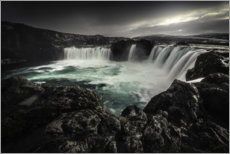 Hout print  Godafoss waterfall in Iceland - Christian Möhrle
