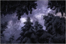 Hout print  Winter night under the Milky Way - Christian Möhrle