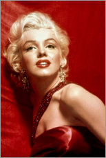 Acrylglas print  Marilyn Monroe - rode jurk - Celebrity Collection