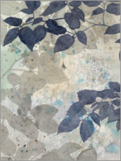 Hout print  Watercolors Shadows II - Megan Meagher