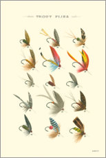 Canvas print  Trout Flies I - Vision Studio