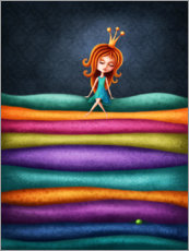Hout print  The Princess and the Pea - Elena Schweitzer