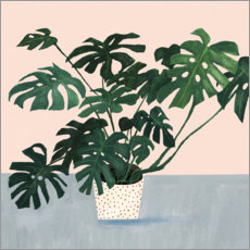 PVC print  Monstera in spotted pot - Victoria Borges